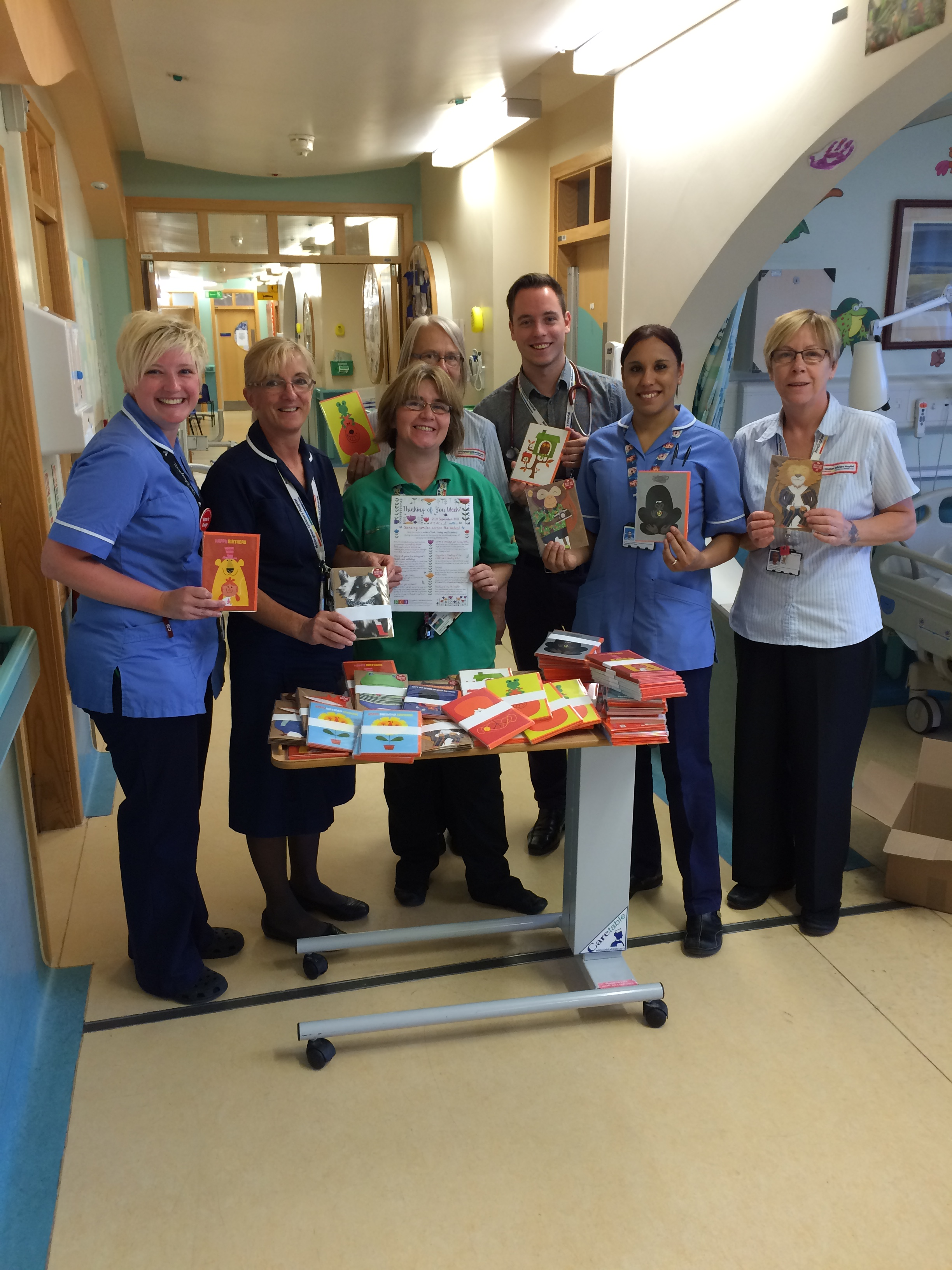 Staff on Children's ward D33 at the QMC- Nottingham